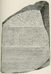 Kamień z Rosetty. Źródło: http://upload.wikimedia.org/wikipedia/commons/b/bf/Rosetta_Stone.jpg