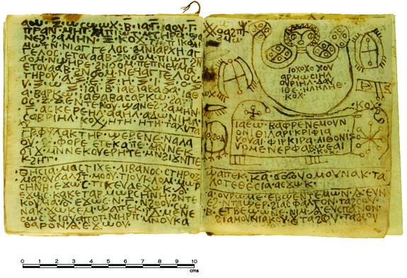 Koptyjski kodeks z formułami magicznymi Effy Alexakis/Macquarie University Ancient Cultures Research Centre. Źródło: www.archaeology.org