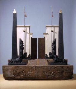 Wotywny model bramy świątynnej w Heliopolis, Brooklyn Museum. Źródło: www.wikipedia.org