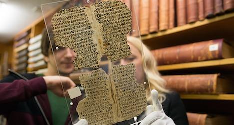 Universitaet Basel, Themenbild Alte Geschichte, Papyrus in der UB, Januar 2015, Bild Christian Flierl