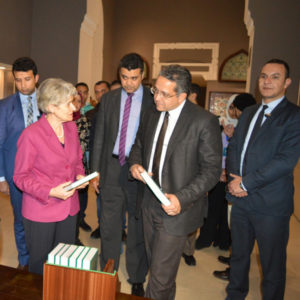 Irina Bokova (UNESCO) i Khaled El-Enany (Minister ds. Starożytności)