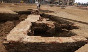 Tanis. Fragment odkrytych łaźni (źródło: Ahram.org)